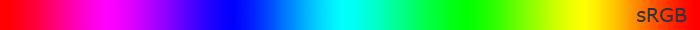 Шкала со встроенным профилем sRGB